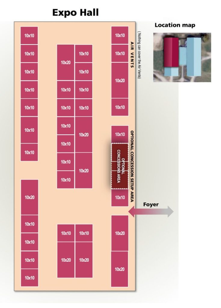 Expo Hall Sample Setup